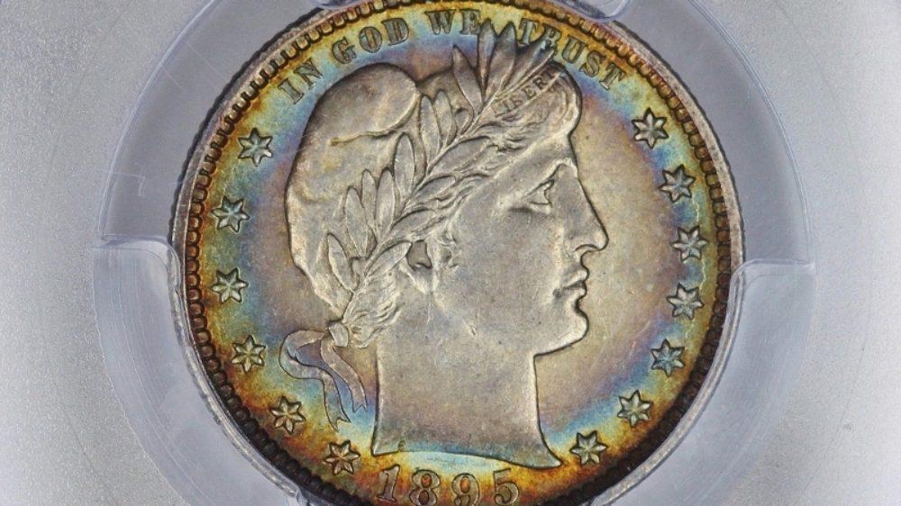 1895 Barber Quarter PCGS AU58 CAC