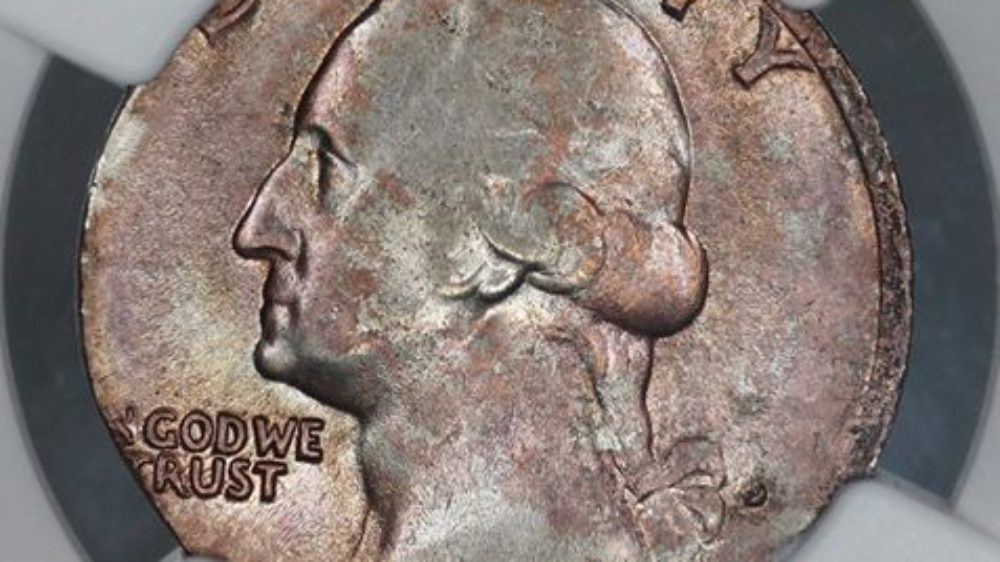 1968 D Quarter Struck On Sintered Nickel Planchet